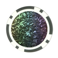 Natural Shimmering Mother of Pearl Nacre  Poker Chip Card Guard