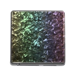 Natural Shimmering Mother of Pearl Nacre  Memory Card Reader (Square)