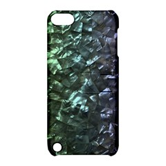 Natural Shimmering Mother Of Pearl Nacre  Apple Ipod Touch 5 Hardshell Case With Stand