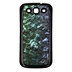 Natural Shimmering Mother of Pearl Nacre  Samsung Galaxy S3 Back Case (Black)