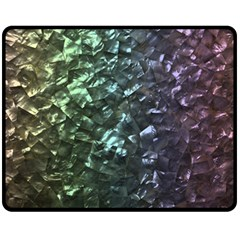 Natural Shimmering Mother of Pearl Nacre  Double Sided Fleece Blanket (Medium)