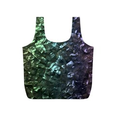 Natural Shimmering Mother of Pearl Nacre  Full Print Recycle Bags (S)