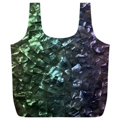 Natural Shimmering Mother of Pearl Nacre  Full Print Recycle Bags (L)