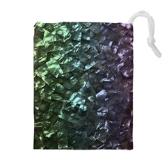 Natural Shimmering Mother Of Pearl Nacre  Drawstring Pouches (extra Large)