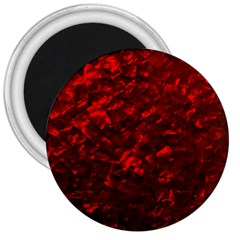 Hawaiian Red Hot Lava Mother of Pearl Nacre  3  Magnets