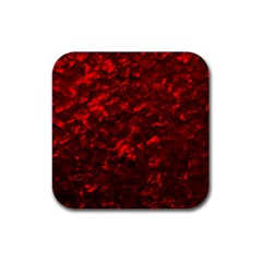 Hawaiian Red Hot Lava Mother Of Pearl Nacre  Rubber Coaster (square)
