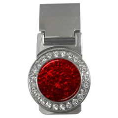 Hawaiian Red Hot Lava Mother of Pearl Nacre  Money Clips (CZ)