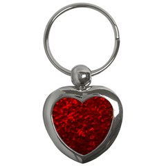 Hawaiian Red Hot Lava Mother of Pearl Nacre  Key Chains (Heart)
