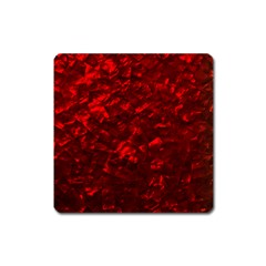 Hawaiian Red Hot Lava Mother of Pearl Nacre  Square Magnet