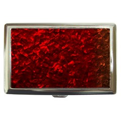 Hawaiian Red Hot Lava Mother of Pearl Nacre  Cigarette Money Cases