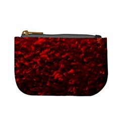 Hawaiian Red Hot Lava Mother of Pearl Nacre  Mini Coin Purses