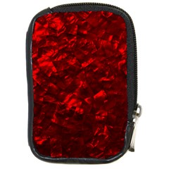 Hawaiian Red Hot Lava Mother of Pearl Nacre  Compact Camera Cases