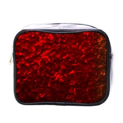 Hawaiian Red Hot Lava Mother of Pearl Nacre  Mini Toiletries Bags
