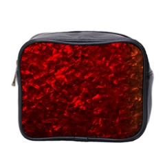 Hawaiian Red Hot Lava Mother of Pearl Nacre  Mini Toiletries Bag 2-Side