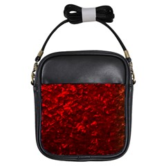 Hawaiian Red Hot Lava Mother of Pearl Nacre  Girls Sling Bags