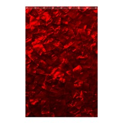 Hawaiian Red Hot Lava Mother of Pearl Nacre  Shower Curtain 48  x 72  (Small)