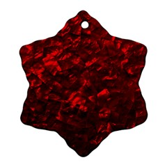 Hawaiian Red Hot Lava Mother of Pearl Nacre  Ornament (Snowflake)