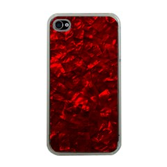 Hawaiian Red Hot Lava Mother of Pearl Nacre  Apple iPhone 4 Case (Clear)