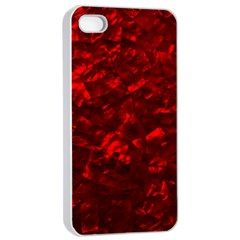 Hawaiian Red Hot Lava Mother of Pearl Nacre  Apple iPhone 4/4s Seamless Case (White)