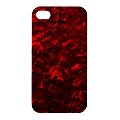 Hawaiian Red Hot Lava Mother of Pearl Nacre  Apple iPhone 4/4S Hardshell Case