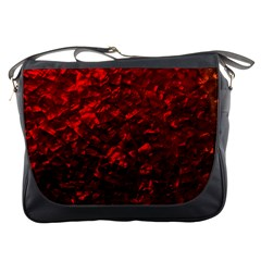 Hawaiian Red Hot Lava Mother of Pearl Nacre  Messenger Bags