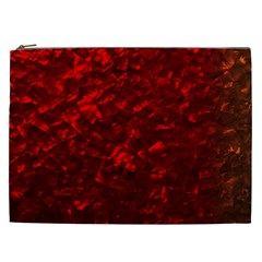 Hawaiian Red Hot Lava Mother of Pearl Nacre  Cosmetic Bag (XXL)