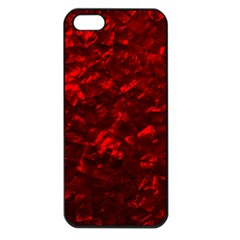 Hawaiian Red Hot Lava Mother of Pearl Nacre  Apple iPhone 5 Seamless Case (Black)