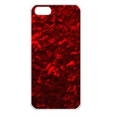 Hawaiian Red Hot Lava Mother of Pearl Nacre  Apple iPhone 5 Seamless Case (White)
