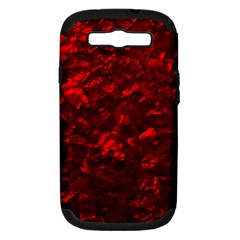 Hawaiian Red Hot Lava Mother of Pearl Nacre  Samsung Galaxy S III Hardshell Case (PC+Silicone)