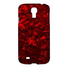 Hawaiian Red Hot Lava Mother of Pearl Nacre  Samsung Galaxy S4 I9500/I9505 Hardshell Case
