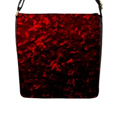 Hawaiian Red Hot Lava Mother Of Pearl Nacre  Flap Messenger Bag (l)