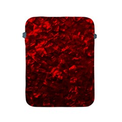 Hawaiian Red Hot Lava Mother of Pearl Nacre  Apple iPad 2/3/4 Protective Soft Cases
