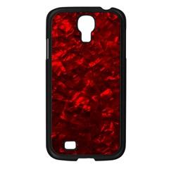 Hawaiian Red Hot Lava Mother of Pearl Nacre  Samsung Galaxy S4 I9500/ I9505 Case (Black)