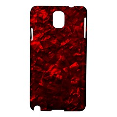 Hawaiian Red Hot Lava Mother of Pearl Nacre  Samsung Galaxy Note 3 N9005 Hardshell Case