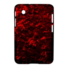 Hawaiian Red Hot Lava Mother of Pearl Nacre  Samsung Galaxy Tab 2 (7 ) P3100 Hardshell Case