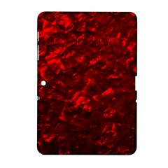 Hawaiian Red Hot Lava Mother of Pearl Nacre  Samsung Galaxy Tab 2 (10.1 ) P5100 Hardshell Case