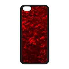 Hawaiian Red Hot Lava Mother of Pearl Nacre  Apple iPhone 5C Seamless Case (Black)