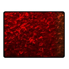 Hawaiian Red Hot Lava Mother of Pearl Nacre  Double Sided Fleece Blanket (Small)