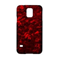 Hawaiian Red Hot Lava Mother of Pearl Nacre  Samsung Galaxy S5 Hardshell Case