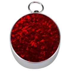 Hawaiian Red Hot Lava Mother Of Pearl Nacre  Silver Compasses