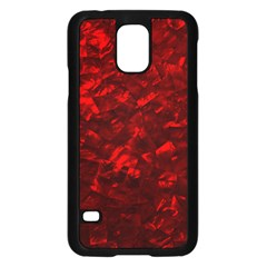 Hawaiian Red Hot Lava Mother of Pearl Nacre  Samsung Galaxy S5 Case (Black)
