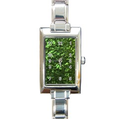 Bright Jade Green Jewelry Mother of Pearl Rectangle Italian Charm Watch