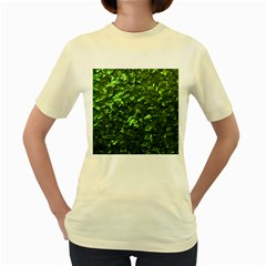 Bright Jade Green Jewelry Mother of Pearl Women s Yellow T-Shirt