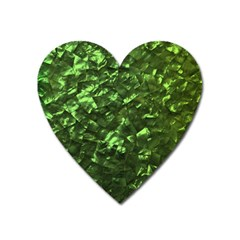 Bright Jade Green Jewelry Mother of Pearl Heart Magnet