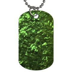 Bright Jade Green Jewelry Mother of Pearl Dog Tag (One Side)
