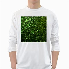 Bright Jade Green Jewelry Mother of Pearl White Long Sleeve T-Shirts
