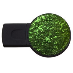 Bright Jade Green Jewelry Mother of Pearl USB Flash Drive Round (4 GB)
