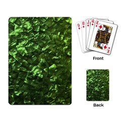 Bright Jade Green Jewelry Mother of Pearl Playing Card
