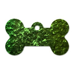Bright Jade Green Jewelry Mother of Pearl Dog Tag Bone (Two Sides)