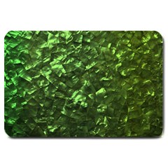Bright Jade Green Jewelry Mother of Pearl Large Doormat